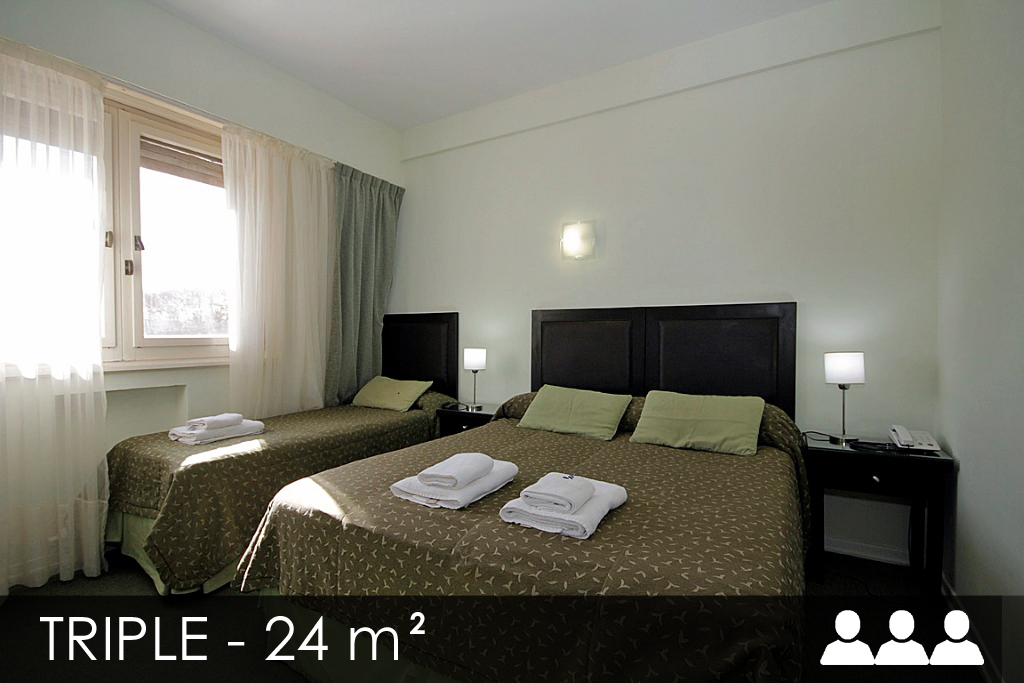 Habitación triple individual matrimonial Pinamar